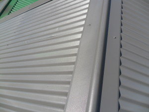 Corrugated Roof Paint Close Up